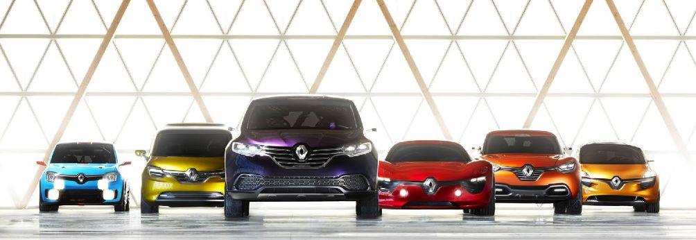 Modèles Renault illustrant la stratégie de design