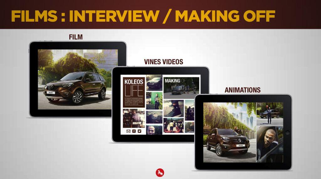 Films, making-of dans magazine augmenté Koléos