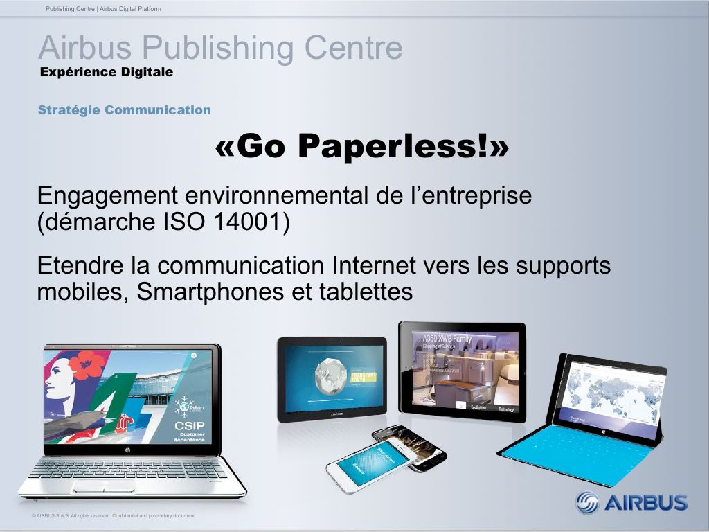 """Go Paperless!"" - Airbus"