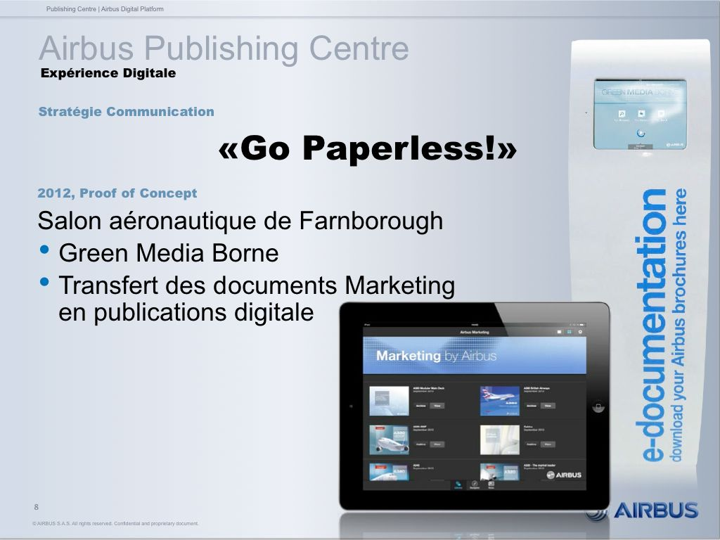 """""""Go Paperless!"""" by Airbus - POC 2012"""