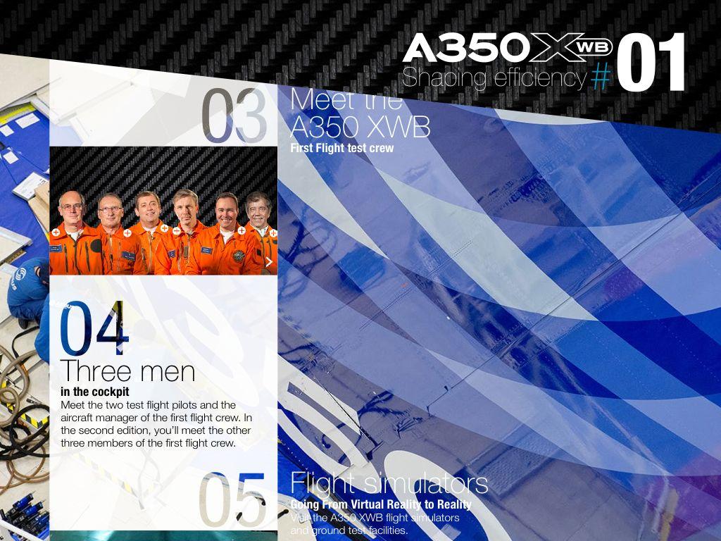 Extrait - Magazine A350 Airbus sur iPad