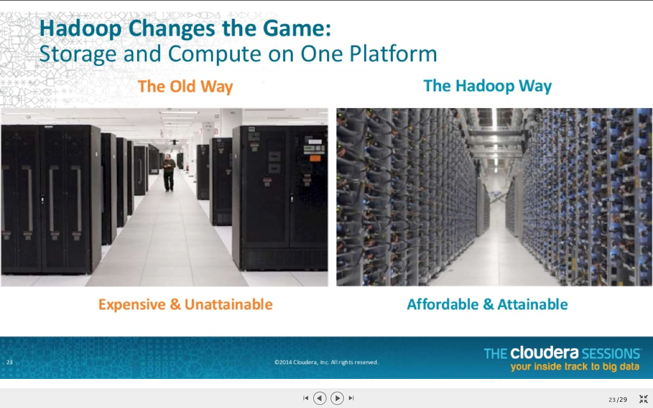 Hadoop changes the game - by Cloudera