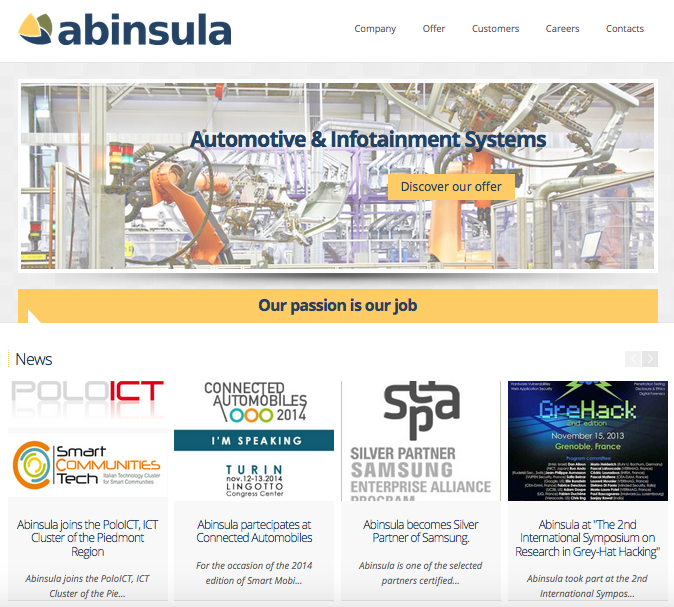 Abinsula website