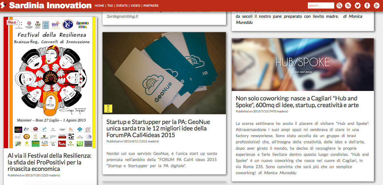Sardinia Innovation website 2