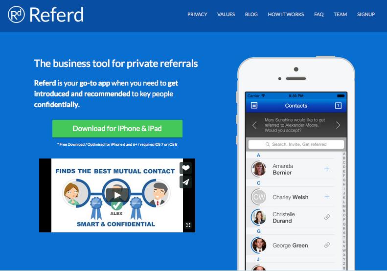 Referd app