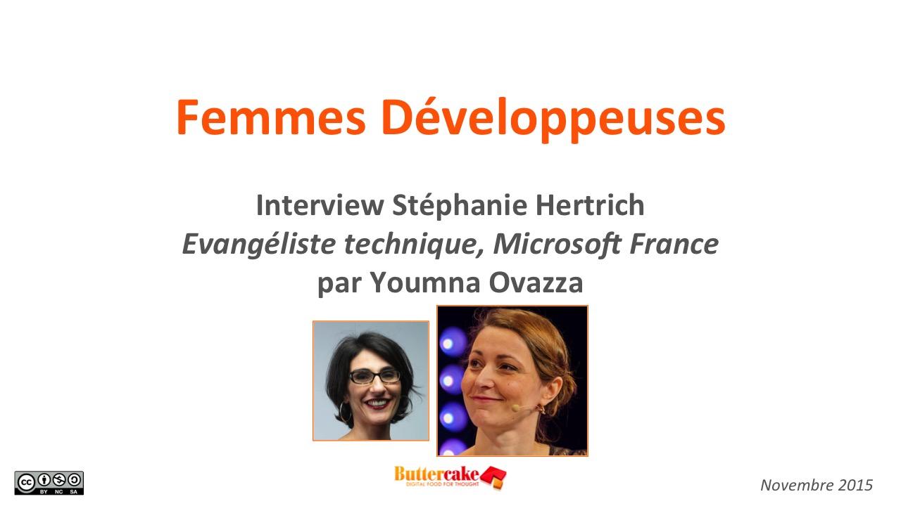 Femmes Développeuses : interview Stéphanie Hertrich, Microsoft France