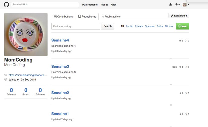 Momcoding Github Profile