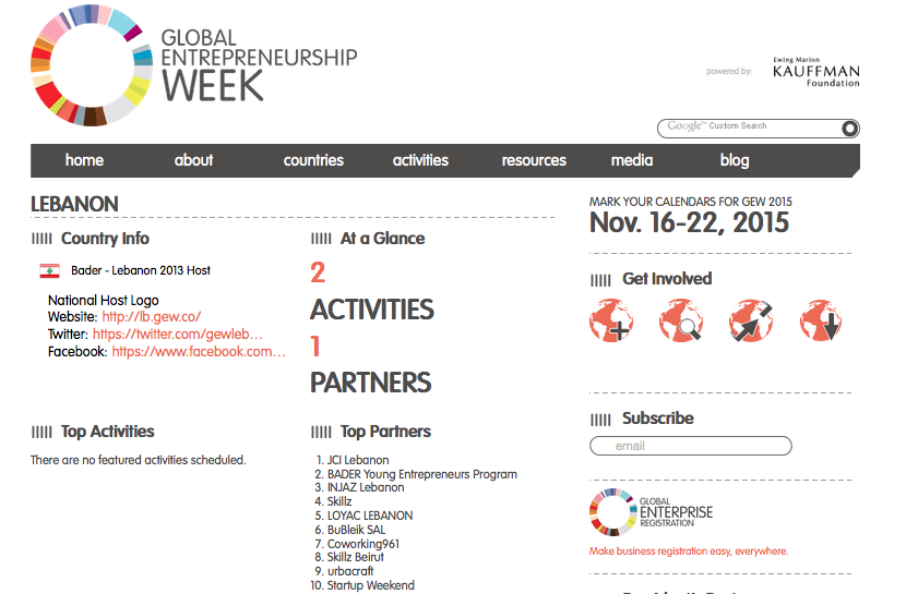 Global Entrepreneurship Week Lebanon
