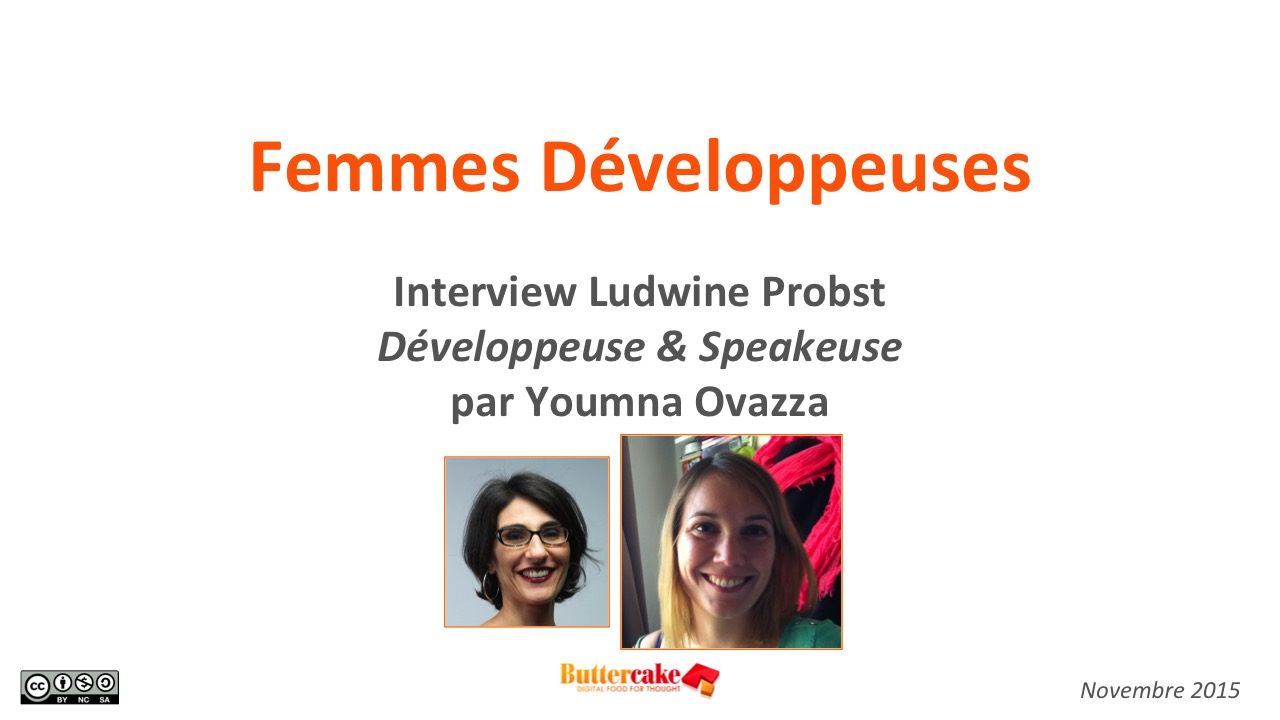 Femmes Développeuses: interview Ludwine Probst, développeuse & speakeuse