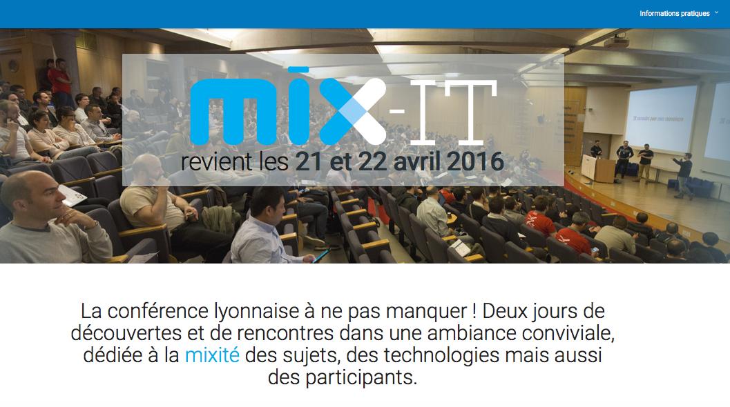 Mix-IT conférence, Lyon