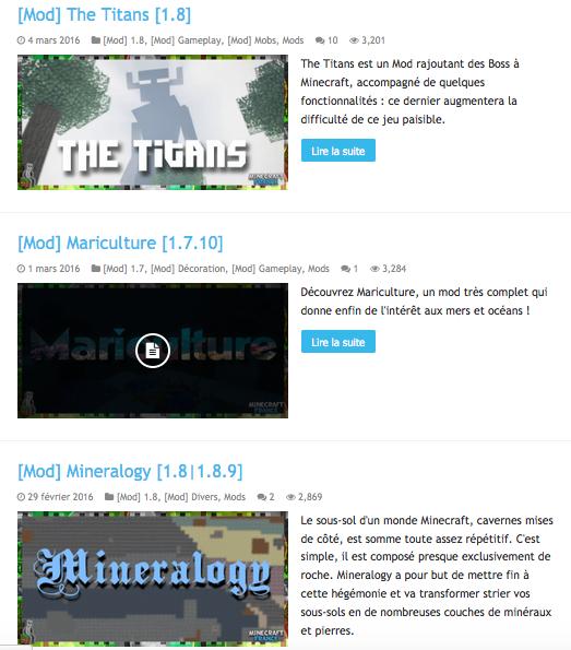 Mods Minecraft
