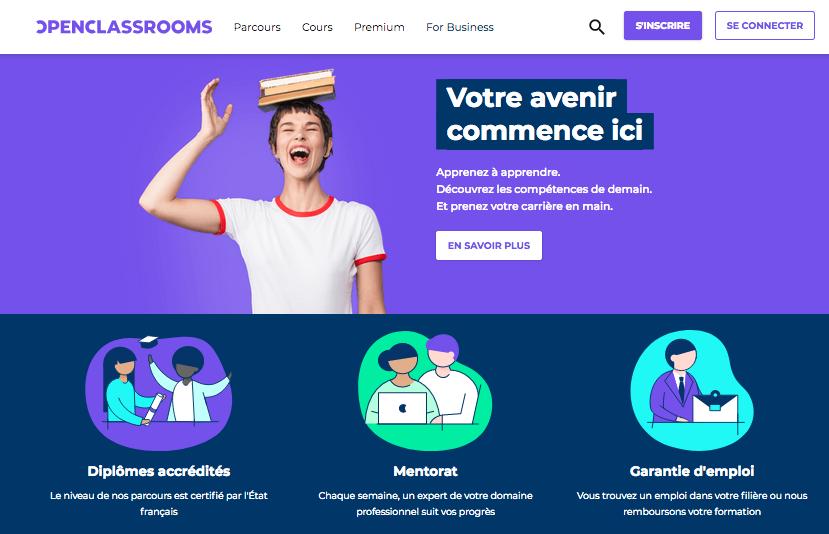 OpenClassrooms_AccueilSiteWeb